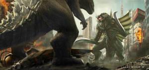 Godzilla vs Gigan by NoBackstreetboys