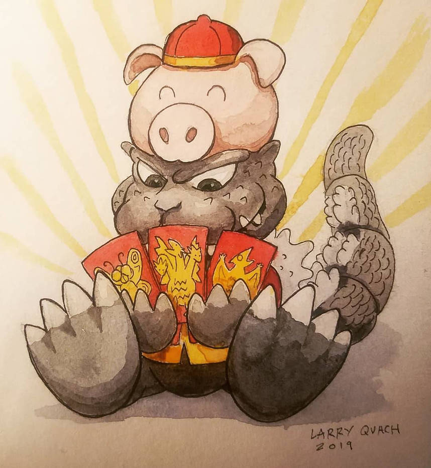 Happy Year of The Pig Godzilla! by NoBackstreetboys