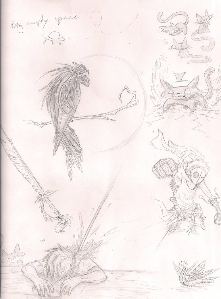 Doodle page by AnonXeidrii