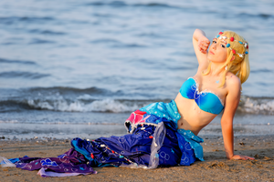 Love Live cosplay: Mermaid Eli Ayase by Adurnah