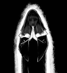 Mourning Nun by Jackshroom