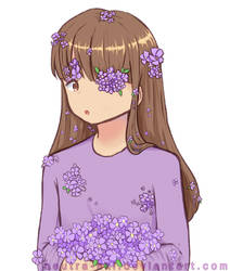 [Art Request] Lavender Flowers by Neutra-Aki
