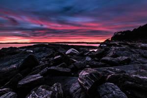 Sunset-steinvika by Aliz1