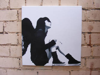 Emo Angel 40x40cm  By T3 by todd3utler