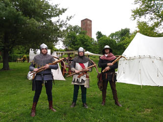 Crossbowmen in training by SpeculumHistoriae