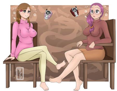 Commission  Kari and Yolei Digimon Hypnotized by EneTheLigthingDancer