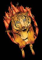 Jumping Tiger by budimanraharjo
