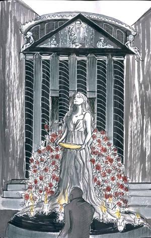 The Priestess' Temple by alejadraws