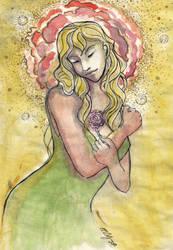 Lady of Flowers by alejadraws