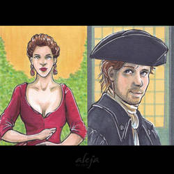 Outlander Card Commissions by alejadraws