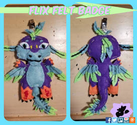 Flix Felt Badge by SamTheMoose101