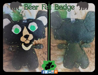Bear Felt Badge by SamTheMoose101