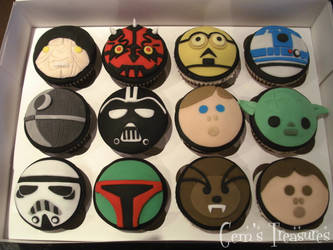 Star Wars Cup Cakes by gertygetsgangster