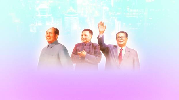 Mao, Deng, Jiang background by xplkqlkcassia