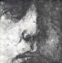 Oscar etching by Ellie-J
