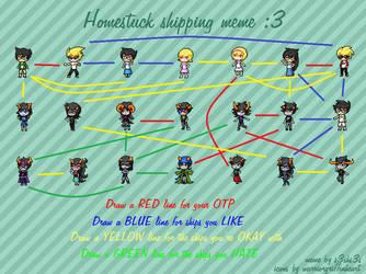 Homestuck Shipping Meme - Done by SawadaShirosaki110