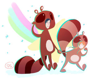Down The Tanuki Road We Go! by PsychicScarf