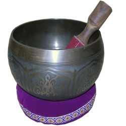 Singing Bowl with Stick by LilipilySpirit