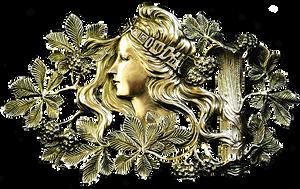 Art Nouveau Lady of the Woods jewelry element by LilipilySpirit
