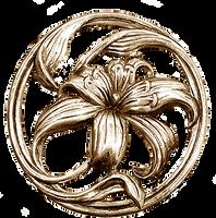 Art Nouveau Lilium silver jewelry element by LilipilySpirit