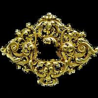 Art Nouveau Gold Filigree Badge jewelry element by LilipilySpirit