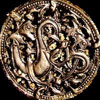 Ancient Nordic Viking Dragons jewelry element by LilipilySpirit