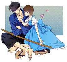 Nabiki and Kuno by Candy19years