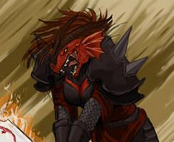 Dragonborn Paladin by baenling