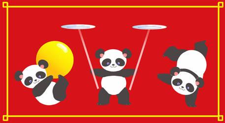 Panda Trio by DrChrissy