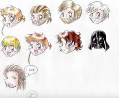 Star Wars characters by Mistress-D