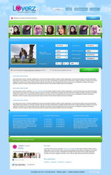 Loverz - Meeting website layout by FloxDesign