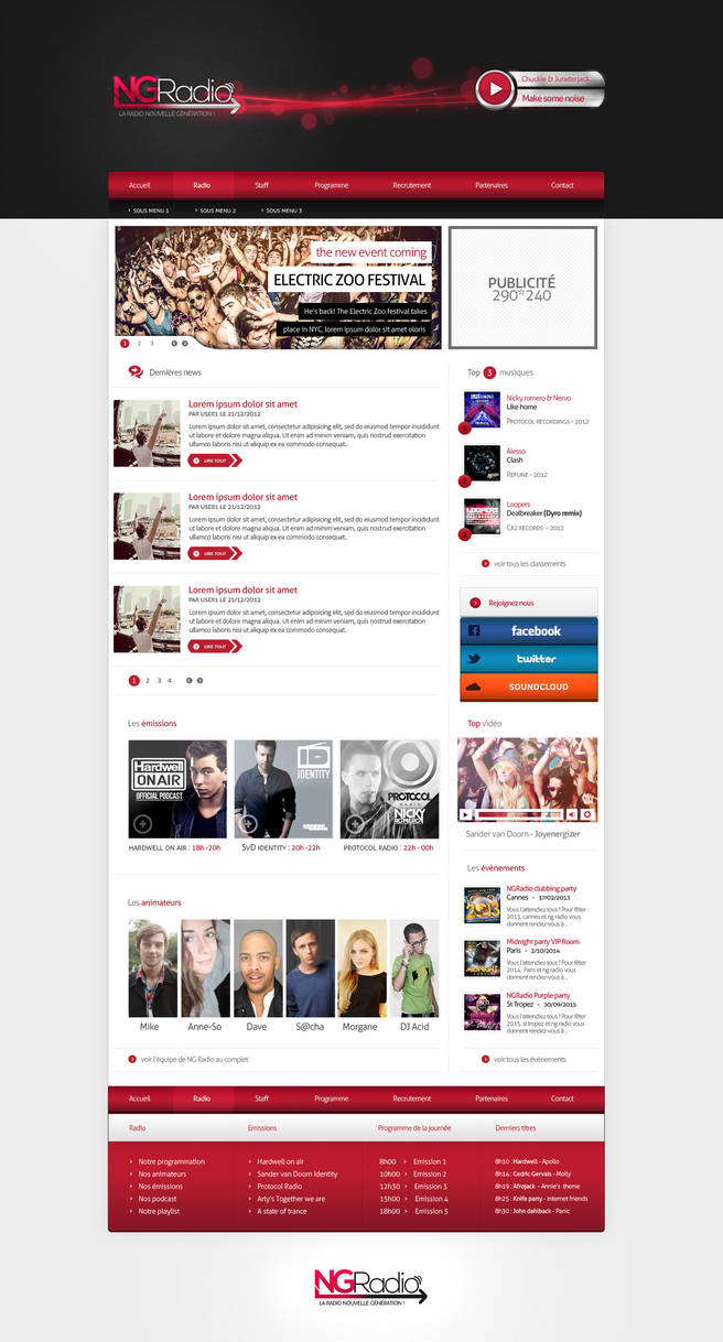 NGRadio - New generation webradio by FloxDesign