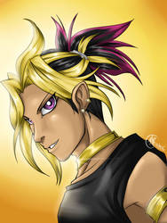 Atem with ponytail by BlackWolfGrimm666