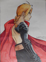 Edward Elric Drawing by Abrutimonstre
