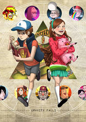 Gravity Falls by lydia-the-hobo