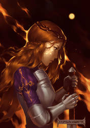 Fire knight by lydia-the-hobo