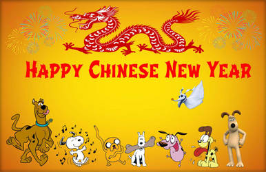 Year of the Cartoon Dogs by TandP