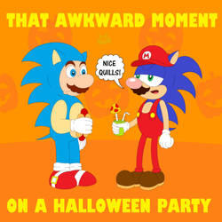That awkward moment on a Halloween party by Hypercat-Z