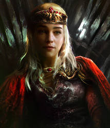 Queen Daenerys by mehdic