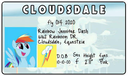 Rainbowdash ID Card by JulietSeville122
