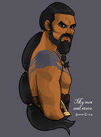 Khal Drogo - My sun and stars by LeenaCruz