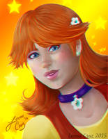 Princess Daisy as a 90s girl by LeenaCruz