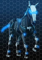 nanosuit horse by Algiark