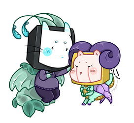 Fishy and Bean Cheebs by RoslynnSommers