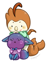 Eggi and Mimo Cheeb Commish by RoslynnSommers