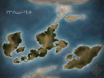 Kauvro World Map (Colored-Blank) by RoslynnSommers