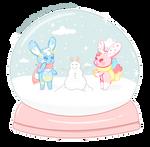 HunBun Snow Day Snowglobe by SquiggleCakes