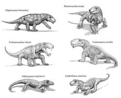 Basal Therapsids by WillemSvdMerwe