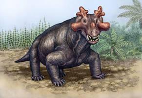 Estemmenosuchus mirabilis by WillemSvdMerwe