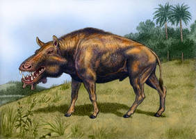 Archaeotherium mortoni by WillemSvdMerwe